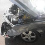 מנוע מרוסקה לאחר תאונה והמכונית עוברת לפירוק
